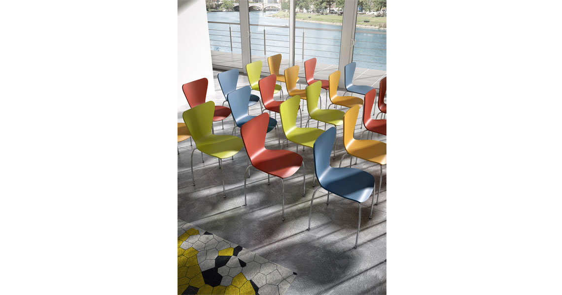 Chairs and tables for libraries, lecture rooms and training rooms