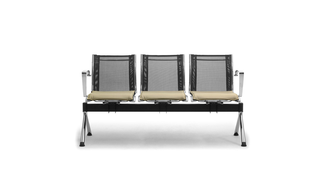 Waiting Room Benches With Mesh Seating Leyform