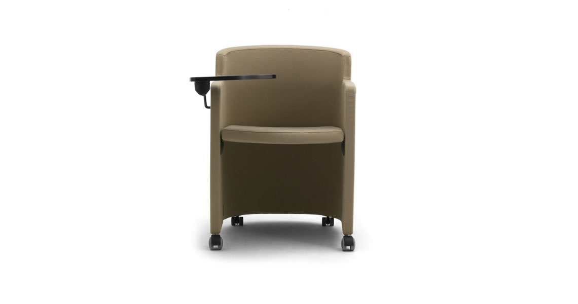 Stacking Tub Armchairs With Writing Tablet Leyform