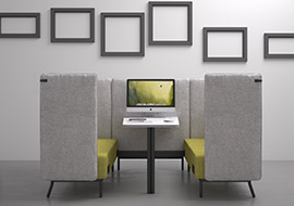 high back meeting pod sofas for privacy silent areas Around-lab