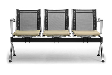 Waiting benches with mesh seats for salons, shops and stores furniture Origami-RX