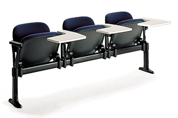 Library chairs on benches with tip-up seat for school and classroom furniture LaMia