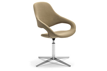 Contemporay design louge chairs + footrest for salons, shops and stores furniture Samba Plus