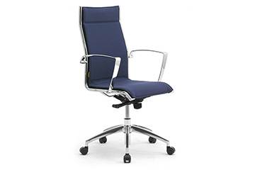 Managerial office chairs with chromed frame Origami Lx