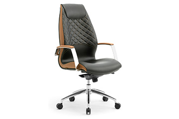 Classic style executive office chairs with quilted backrest Wave