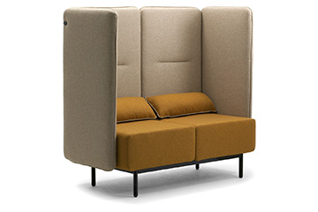 High back waiting area sofas and armchairs for office entrance, lobby, reception space Around