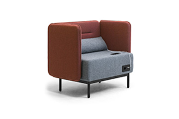 Waiting  sofas with USB charger for office lobby, reception and entrance hall area Around