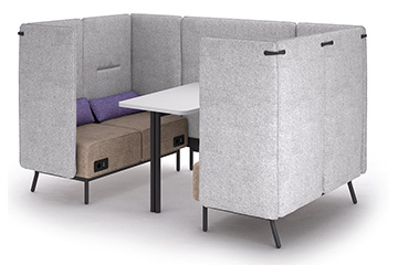 Divano attesa isolato office pod per ingresso open space lobby hotel Around Lab
