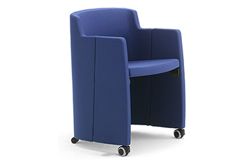 Armchairs sofas with castors for main entrance, reception areas and office lobby Clac