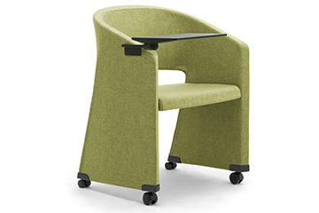 Conference library armchairs with castors for school and classroom furniture Reef