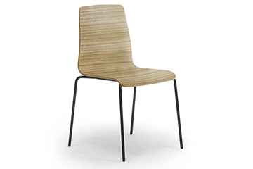 Contemporary design wooden chairs for school and classroom furniture Zerosedici 4g