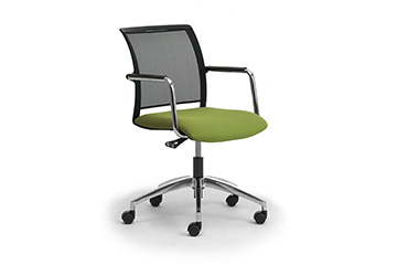 White mesh  task armchairs for modern office furniture Cometa