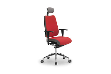 Ergonomic armchairs with headrest + adjustable arms for office furniture DD Dinamica