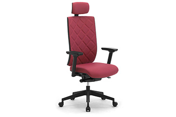 Design office armchairs with quilted backrest and headrest Wiki Tech