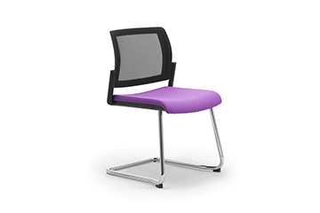Mesh chairs awith sled base for office lobby, reception, entrance hall waiting area Wiki RE Relax