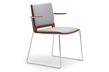 Stackable chairs for with armrests for meeting hall and traning room I Like