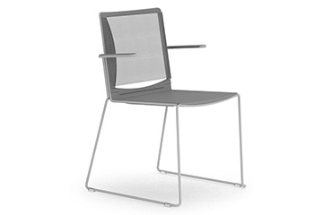 Stackable chairs with mesh backrest for convention, congress and training room iLike re
