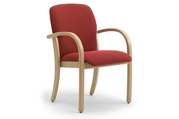 Wooden healthcare armchairs with anti microbial upholstery Kali