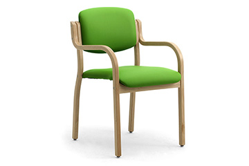 Stacking wooden armchairs for hotel and conference rooms Kalos