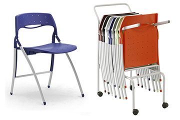office folding chairs stackable piega Piega