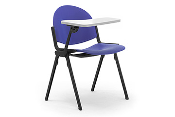 Library armchairs with writing tablet for school, university and classroom furniture Programma UNO