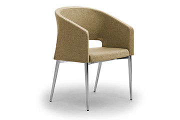 Design waiting armchairs for salons, shops and stores furniture Reef 4 legs