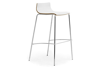 Modern design 4 legs stools with wooden seat for churches, cathedrals and religious areas