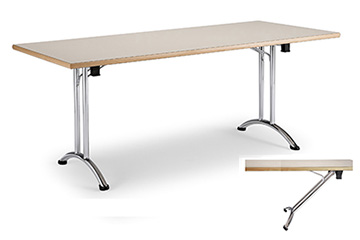 Library tables with folding legs for school and classroom furniture Arno-4