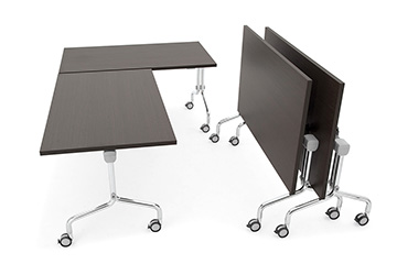 Nesting tables with folding top and castors for training areas Arno 5