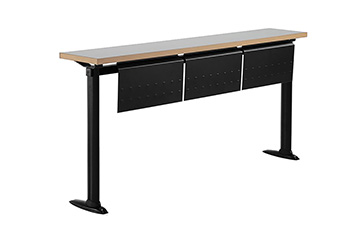 University continuous writing bench table with fixed legs for school and classroom furniture