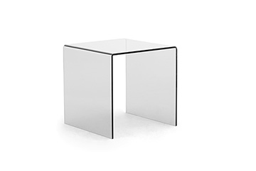 Side tables for magazines with transparent top Tre Di