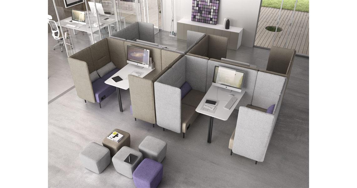 Divanetti e panche per sala d'attesa e aspetto - Leyform