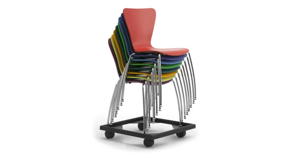 Sedie impilabili per conferenze e sale polivalenti leyform for Sgabelli impilabili