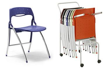 Sedie e tavoli per biblioteca aula lettura didattica e for Sedie richiudibili