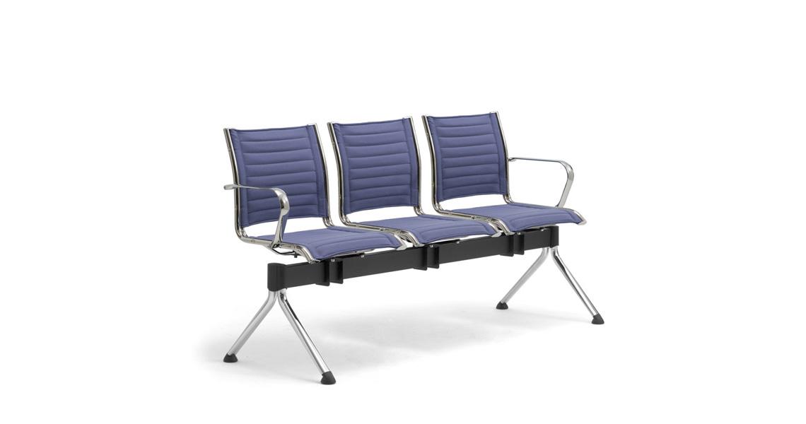 Sedie Per Sala D Attesa.Poltrone Su Panca Per Atrio E Sala D Attesa Leyform
