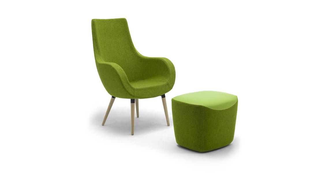 Poltrona sedia lounge chair per aree attesa leyform for Sedia poltrona