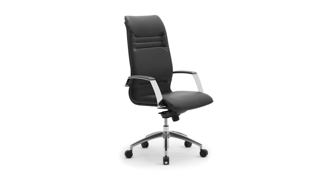 Sedie e poltrone in pelle per scrivania ufficio - Leyform