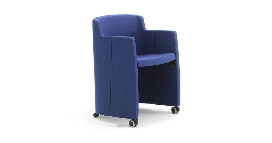 Sedie con tavoletta a ribaltina - Leyform