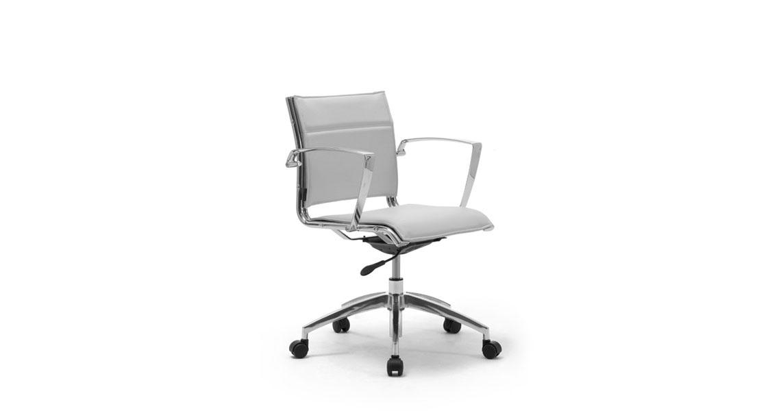 Poltrone con ruote per sala riunioni ufficio - Leyform