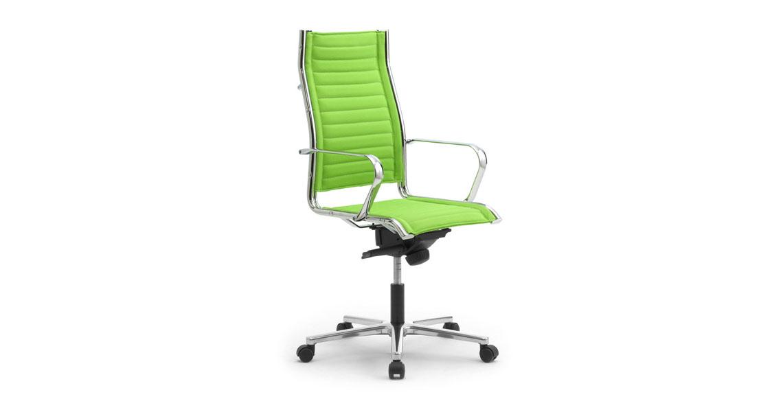 Poltrone per tavolo riunione e ufficio sedute imbottite for Poltrone per studio