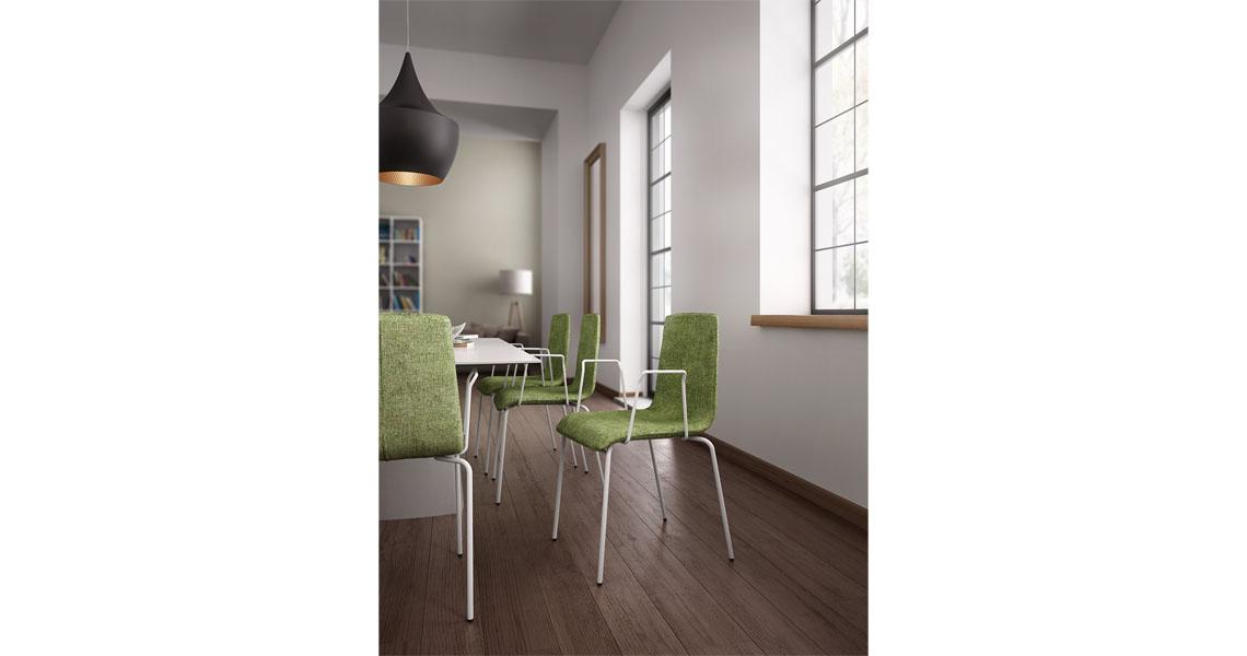 Sedia impilabile multiuso home office Leyform