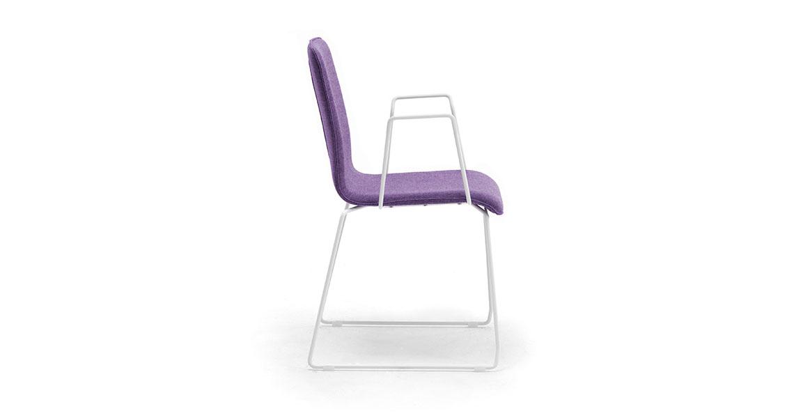 Sedie per sala riunioni e corsi con ribaltina - Leyform