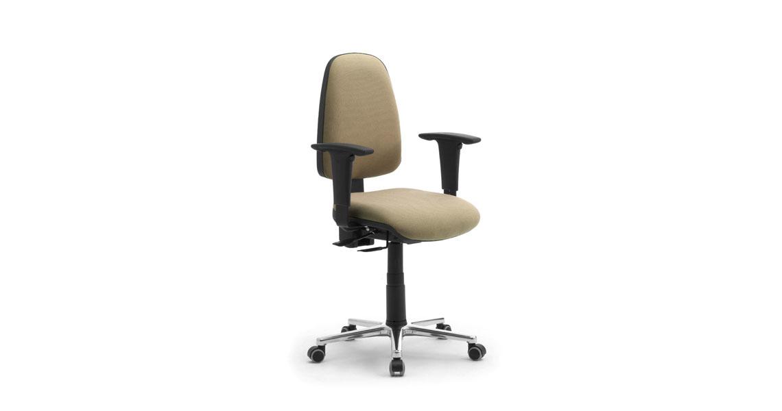 Sedie e poltroncine per ufficio operative con braccioli - Leyform