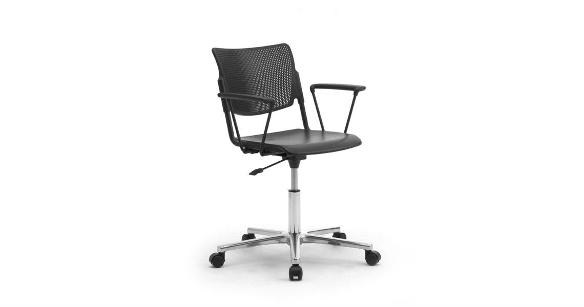 sedia ufficio operativa con ruote - Leyform