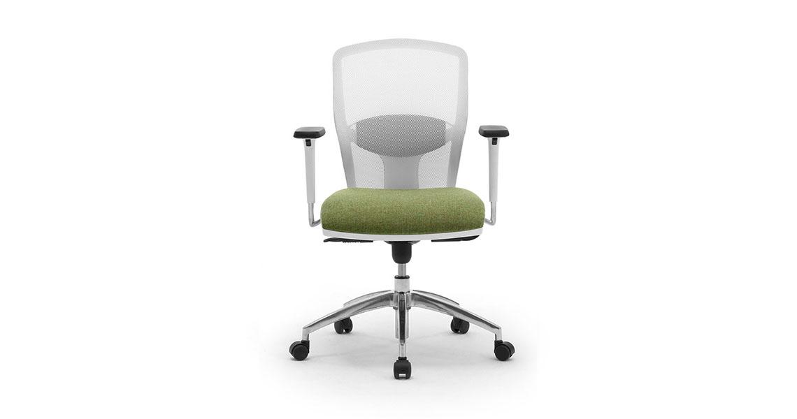 sedia ufficio girevole in rete traspirante con braccioli