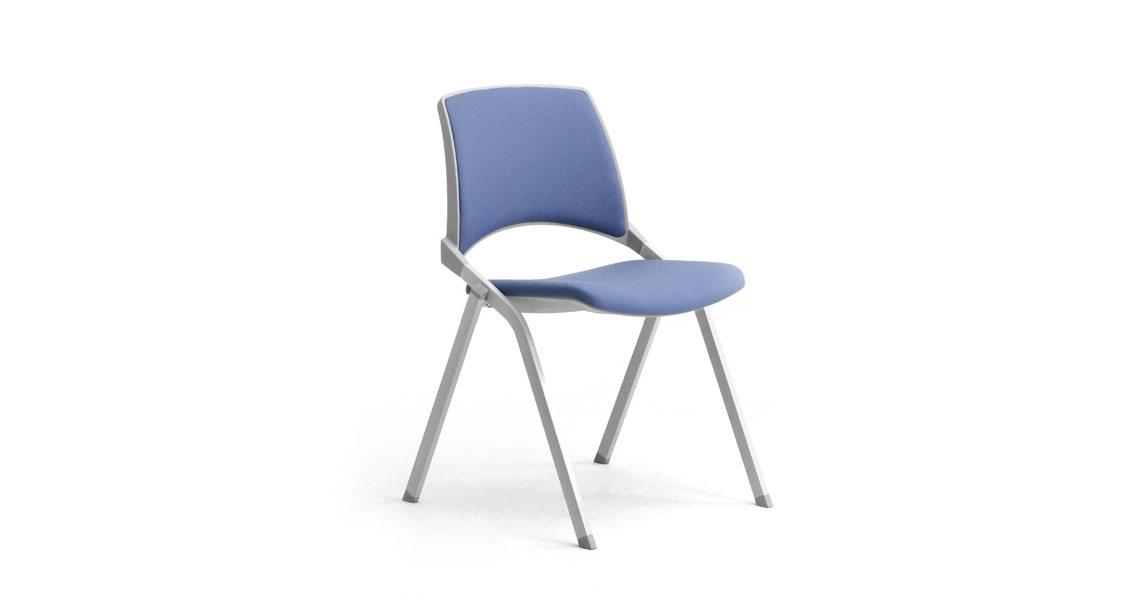 Sedie in plastica accatastabili con scrittoio per sala conferenze ...