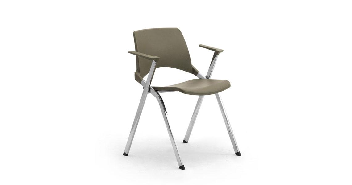 Sedie in plastica accatastabili con scrittoio per sala conferenze, sedie per sale congressi ...