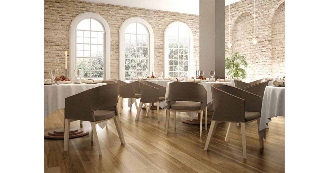 Sedie per ristorante adatte all 39 arredo di sale da pranzo di hotel e alberghi leyform - Sedie per sala pranzo ...