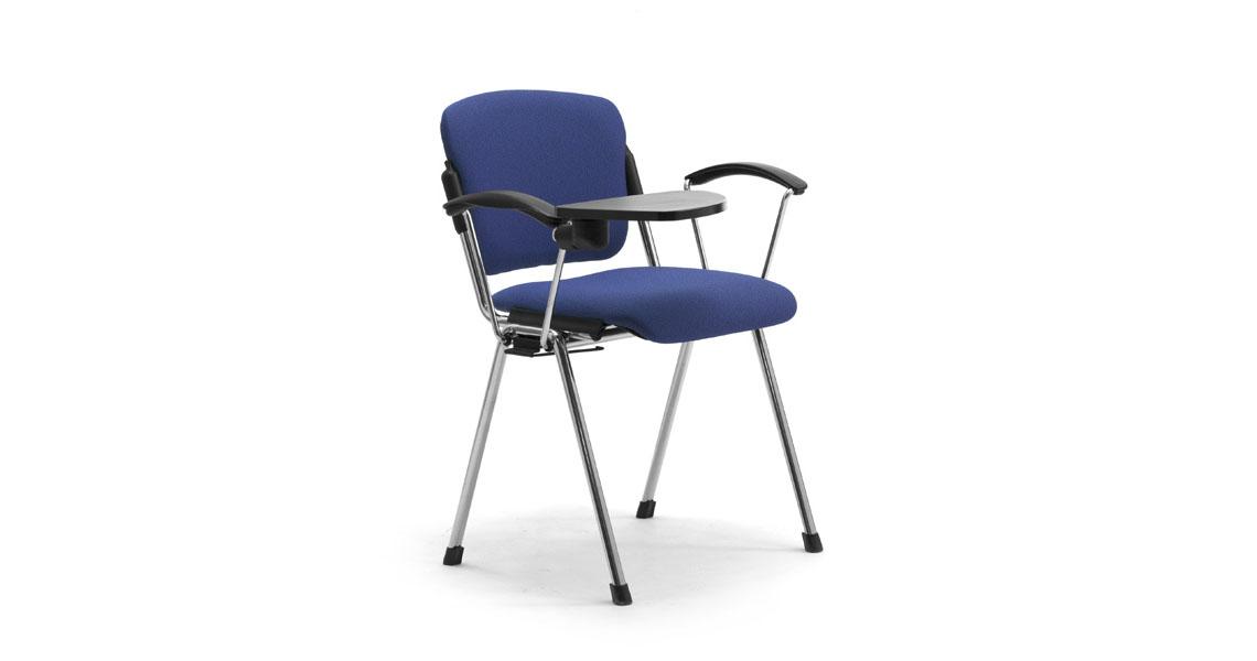 Sedie per aula magna e formazione con ribaltina leyform for Sedie costo