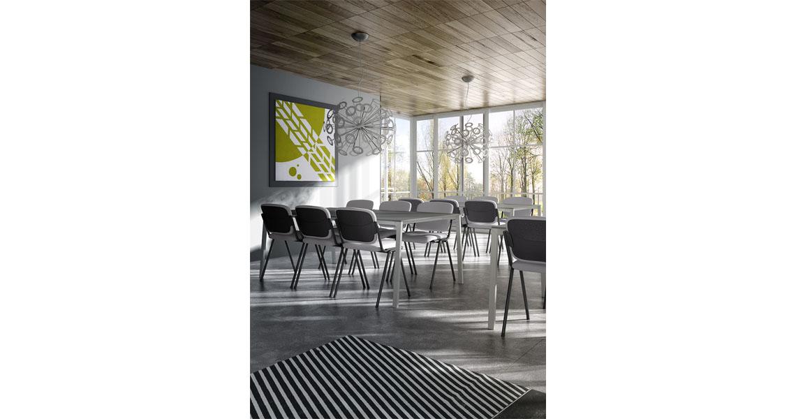 Sedie per aula magna e formazione con ribaltina - Leyform